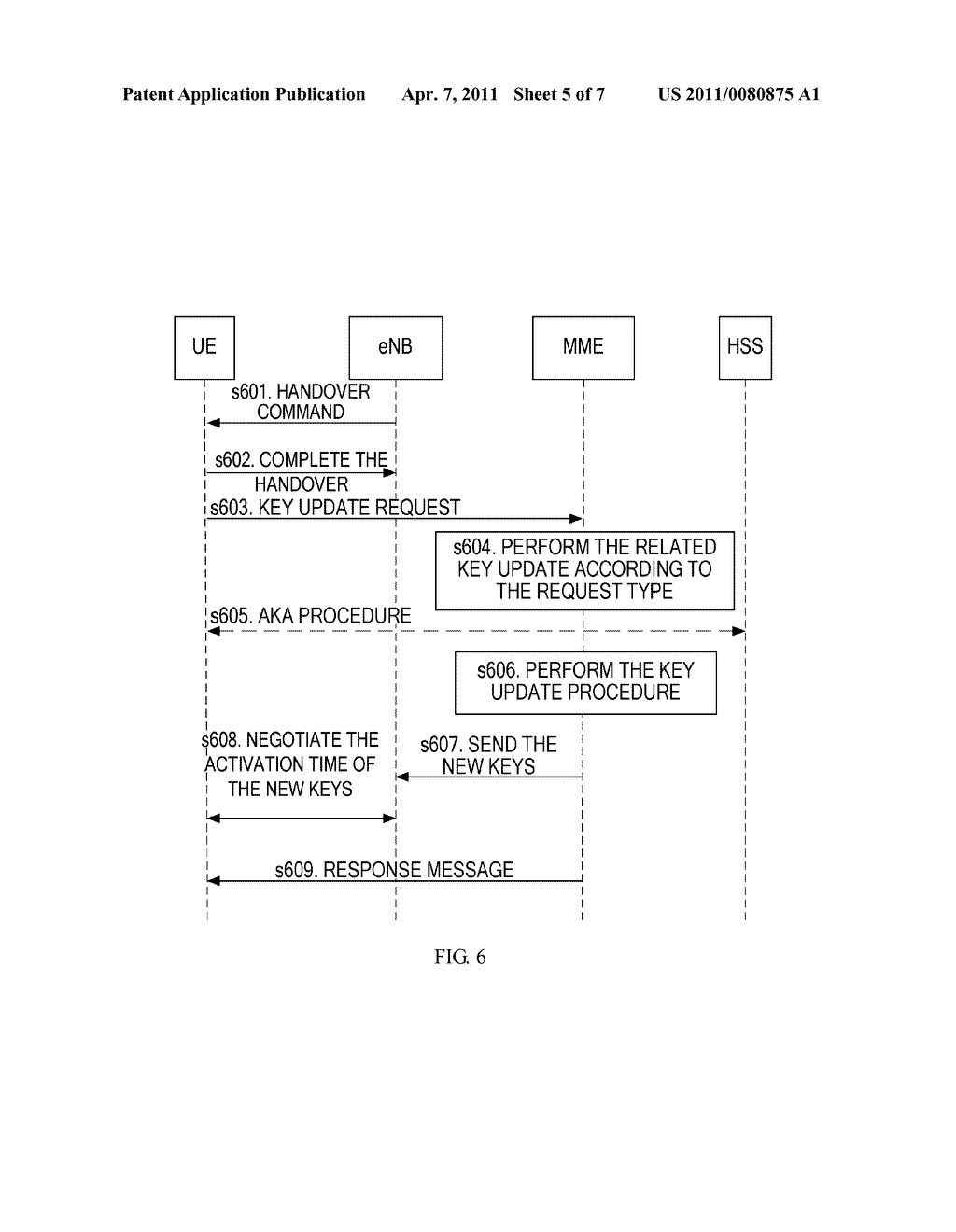 METHOD AND APPARATUS FOR UPDATING A KEY IN AN ACTIVE STATE - diagram, schematic, and image 06