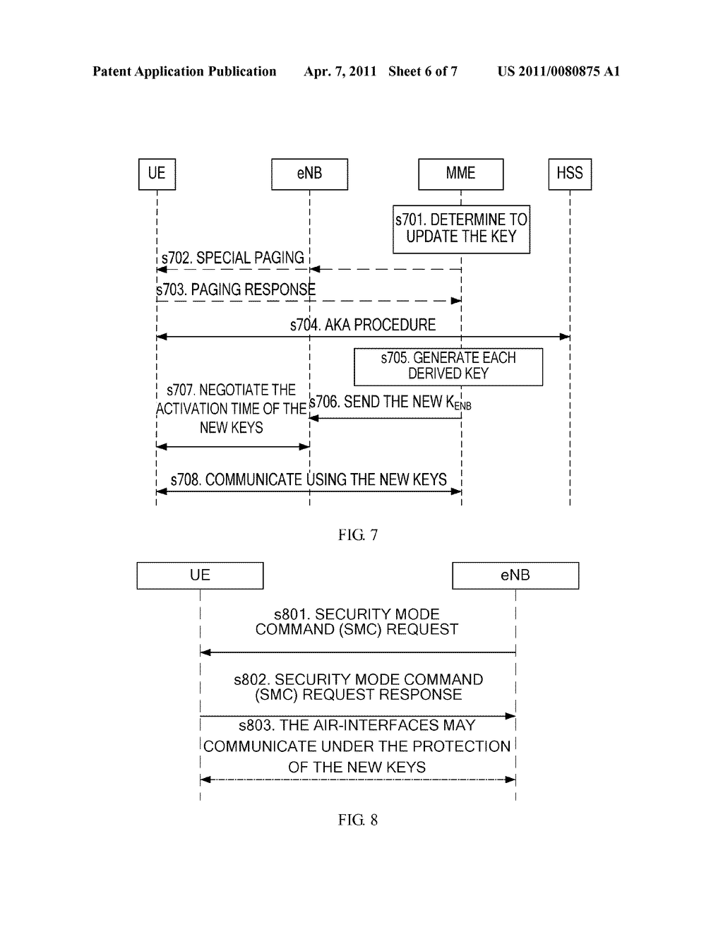 METHOD AND APPARATUS FOR UPDATING A KEY IN AN ACTIVE STATE - diagram, schematic, and image 07