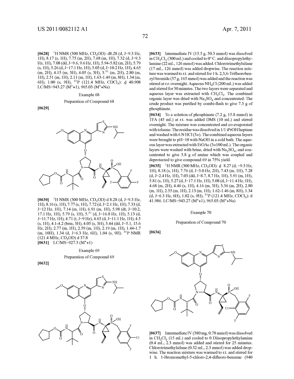 ANTIVIRAL PHOSPHINATE COMPOUNDS - diagram, schematic, and image 73