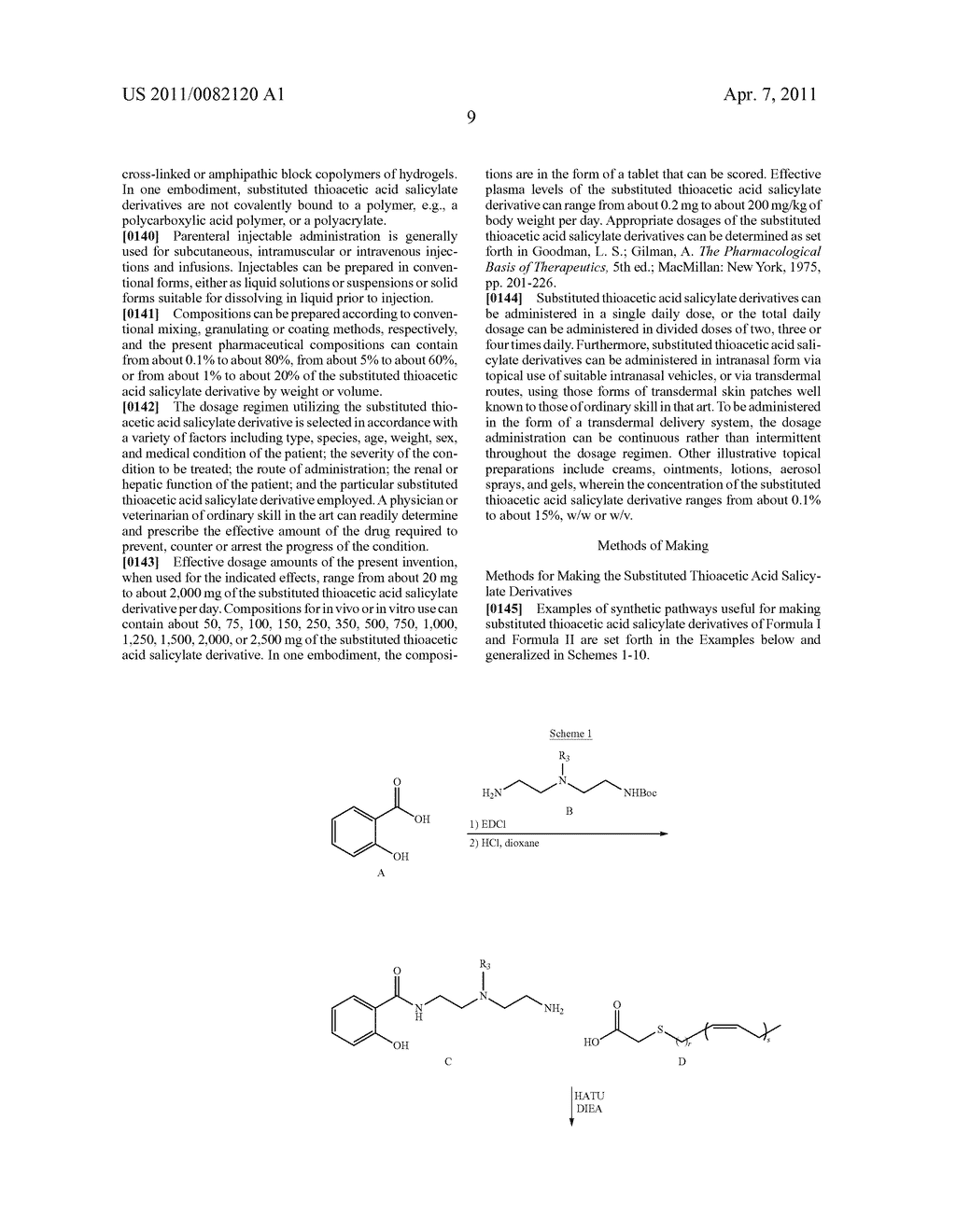 SUBSTITUTED THIOACETIC ACID SALICYLATE DERIVATIVES AND THEIR USES - diagram, schematic, and image 10
