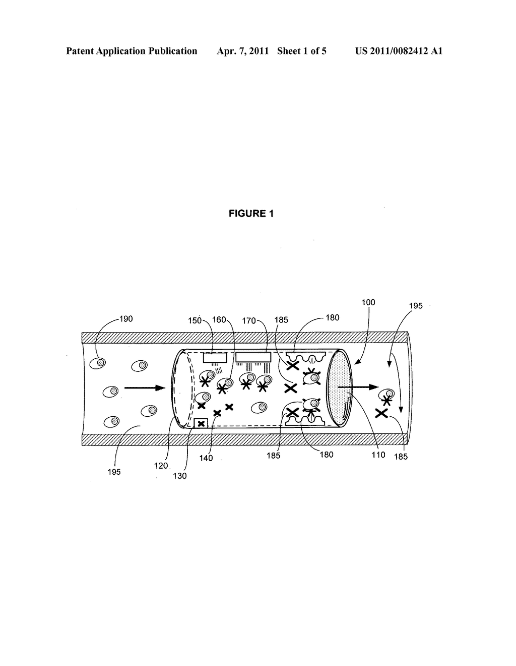 Device for actively removing a target component from blood or lymph of a vertebrate subject - diagram, schematic, and image 02