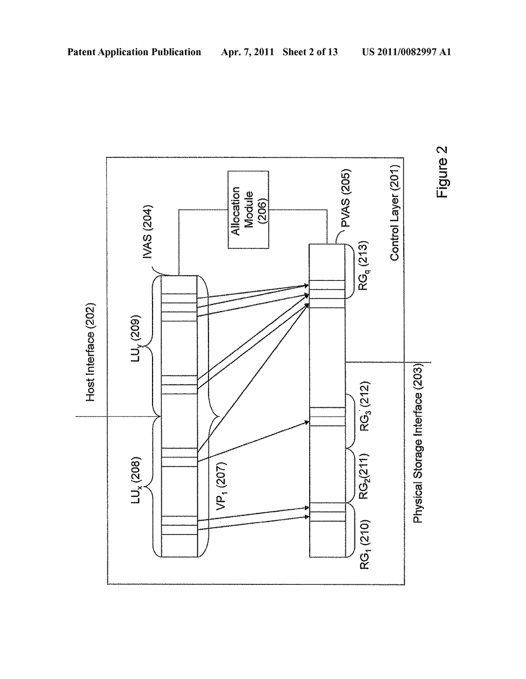 VIRTUALIZED STORAGE SYSTEM AND METHOD OF OPERATING THEREOF - diagram, schematic, and image 03