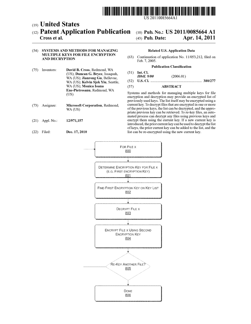 SYSTEMS AND METHODS FOR MANAGING MULTIPLE KEYS FOR FILE ENCRYPTION AND DECRYPTION - diagram, schematic, and image 01