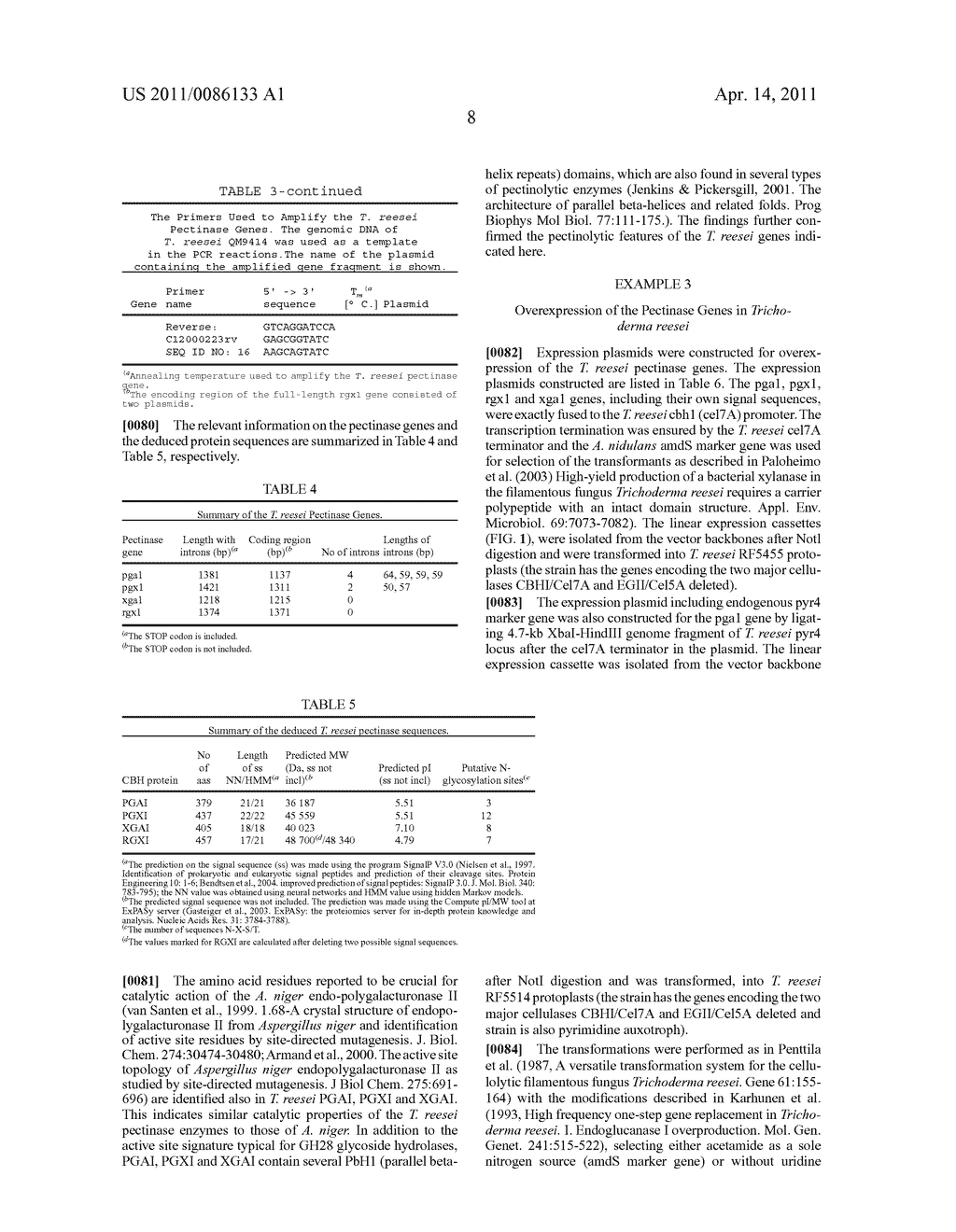 USE OF PECTINOLYTIC ENZYMES FOR THE TREATMENT OF FRUIT AND VEGETABLE MASH AND ENZYME SEQUENCES THEREFOR - diagram, schematic, and image 17