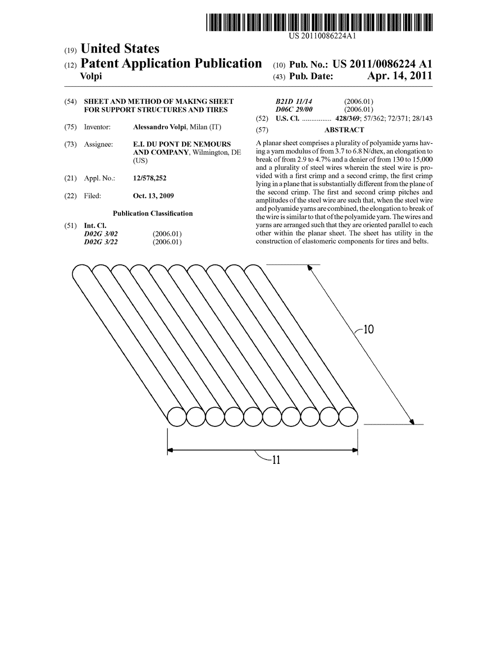 Sheet and Method of Making Sheet for Support Structures and Tires - diagram, schematic, and image 01