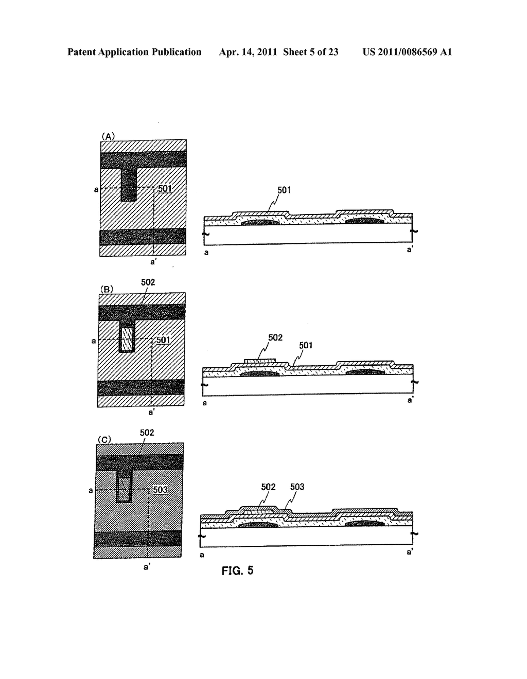 METHOD FOR PRODUCING SEMICONDUCTOR DEVICE AND DISPLAY DEVICE - diagram, schematic, and image 06