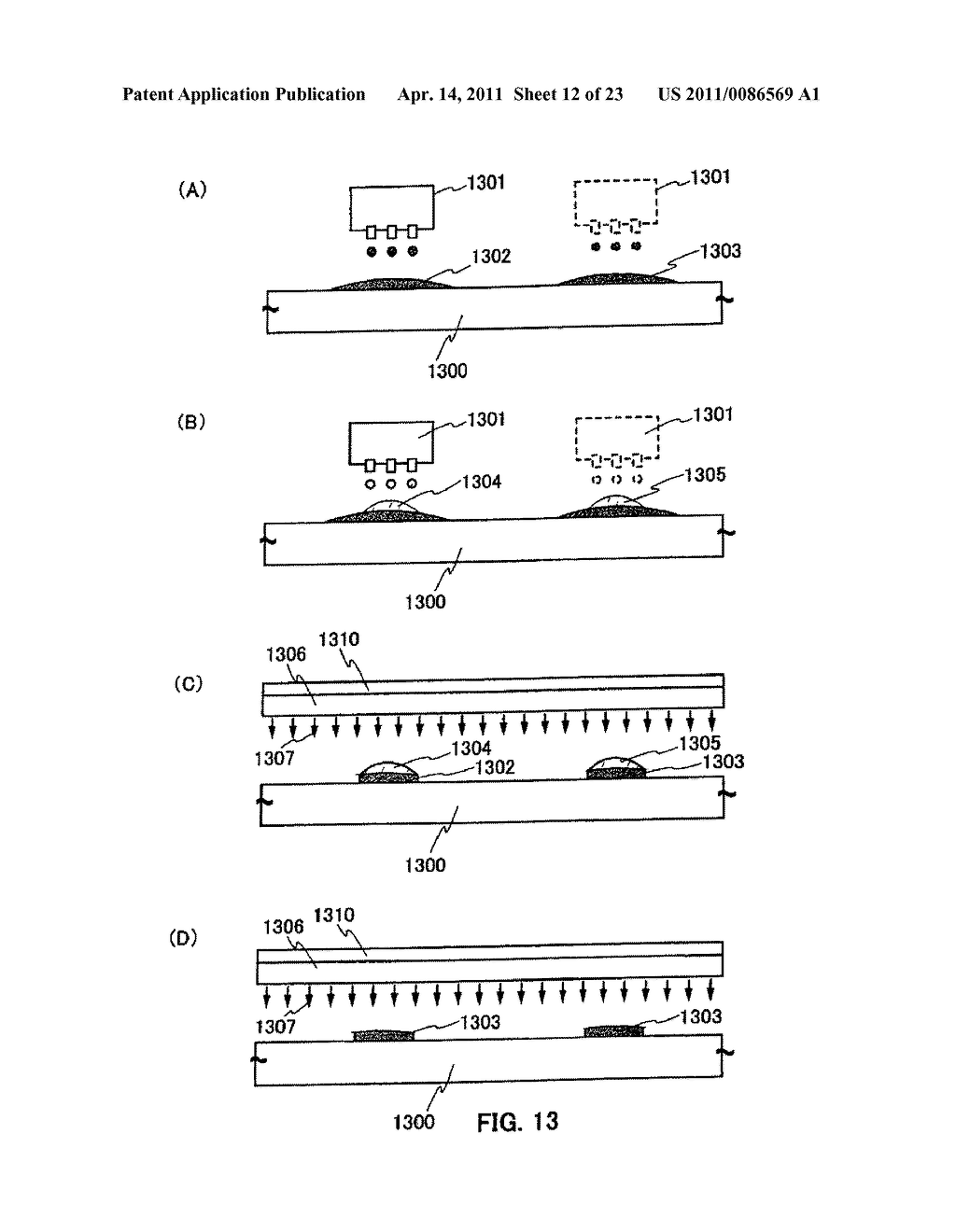 METHOD FOR PRODUCING SEMICONDUCTOR DEVICE AND DISPLAY DEVICE - diagram, schematic, and image 13