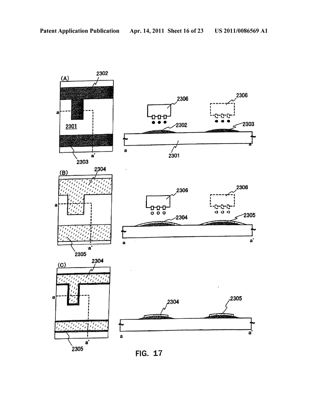 METHOD FOR PRODUCING SEMICONDUCTOR DEVICE AND DISPLAY DEVICE - diagram, schematic, and image 17