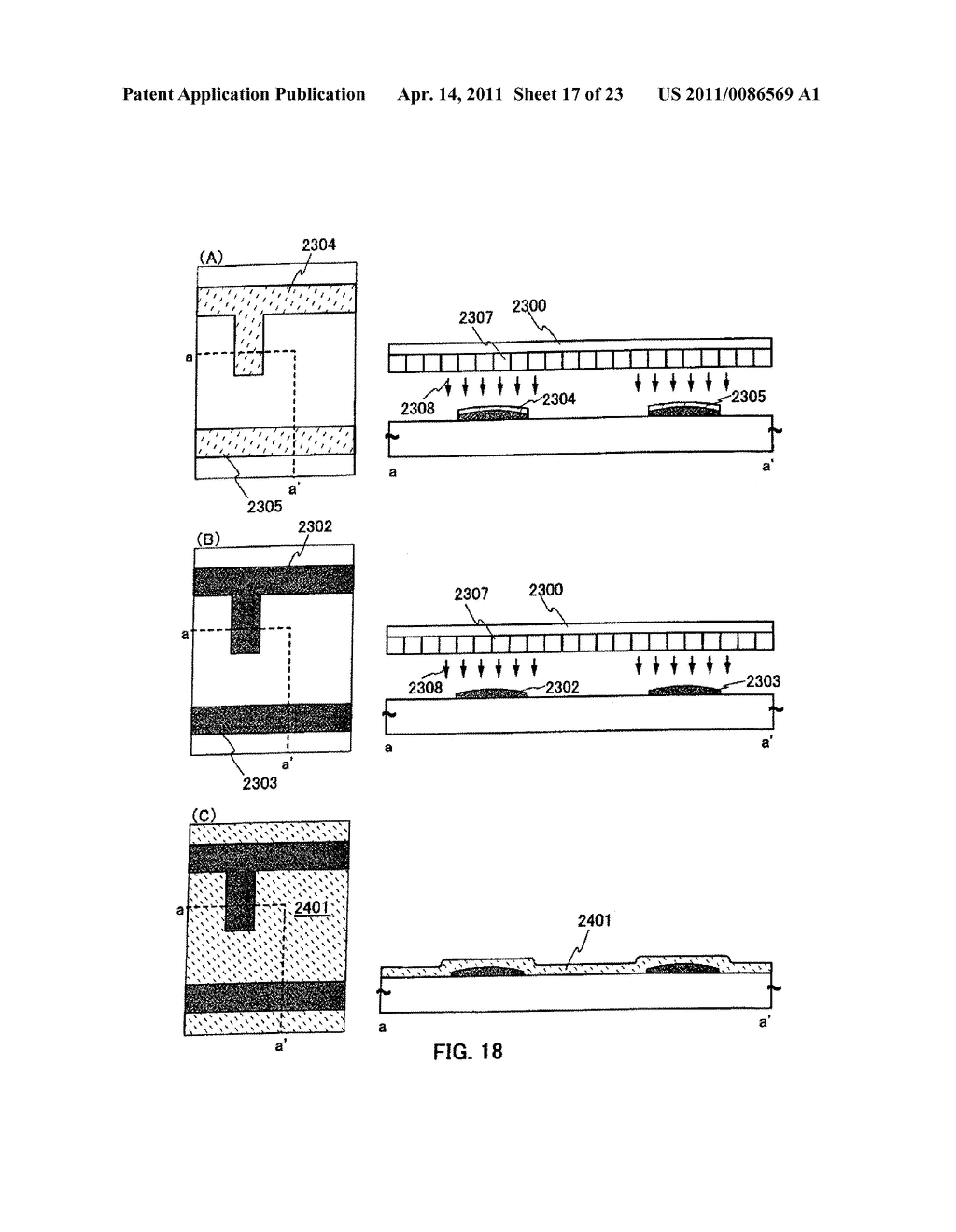 METHOD FOR PRODUCING SEMICONDUCTOR DEVICE AND DISPLAY DEVICE - diagram, schematic, and image 18