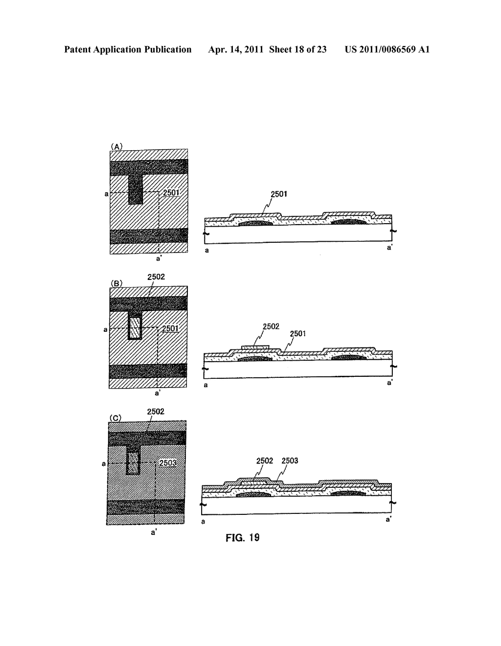 METHOD FOR PRODUCING SEMICONDUCTOR DEVICE AND DISPLAY DEVICE - diagram, schematic, and image 19
