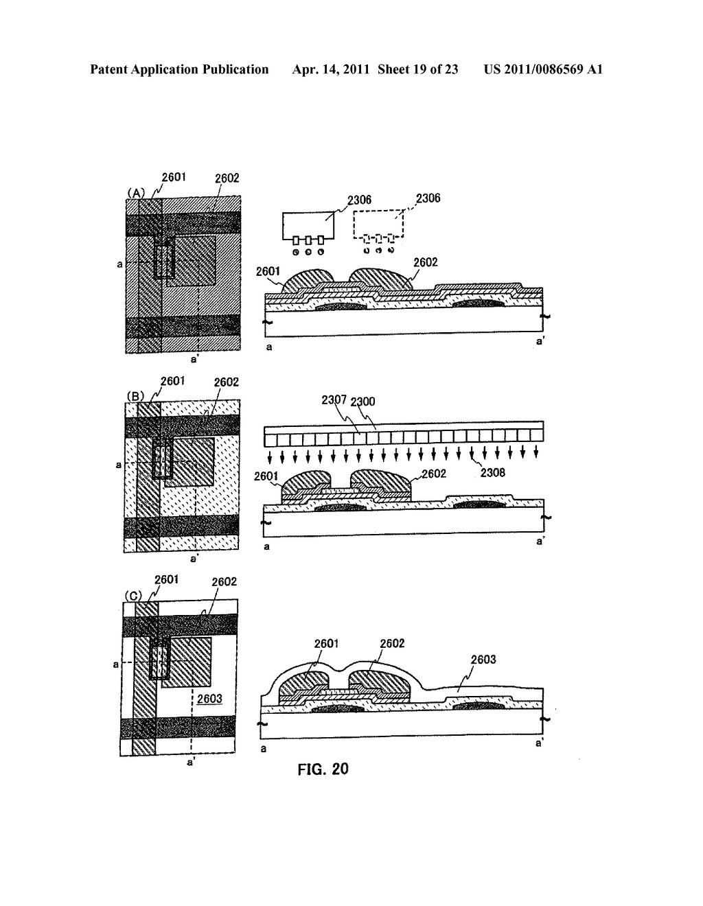 METHOD FOR PRODUCING SEMICONDUCTOR DEVICE AND DISPLAY DEVICE - diagram, schematic, and image 20