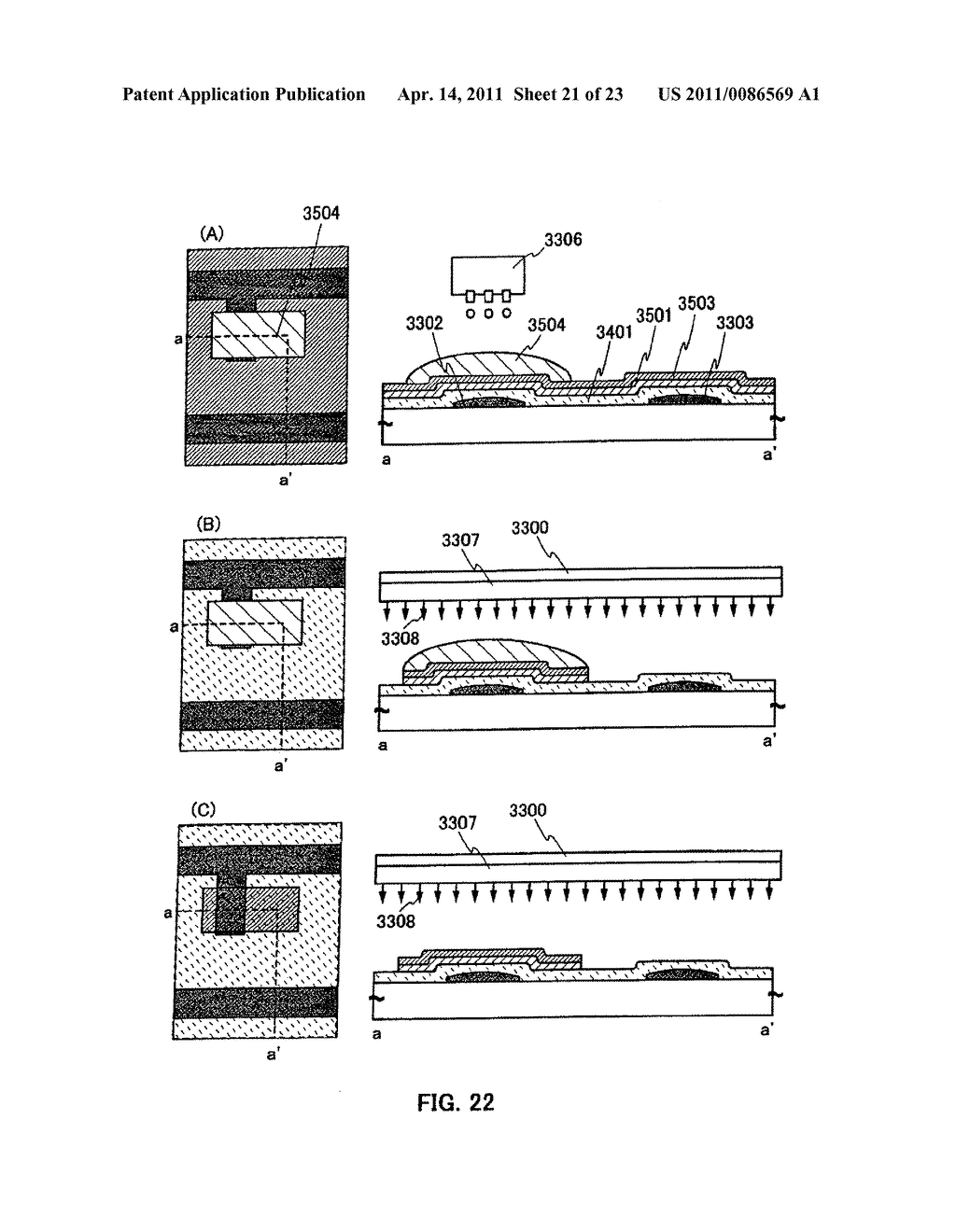 METHOD FOR PRODUCING SEMICONDUCTOR DEVICE AND DISPLAY DEVICE - diagram, schematic, and image 22