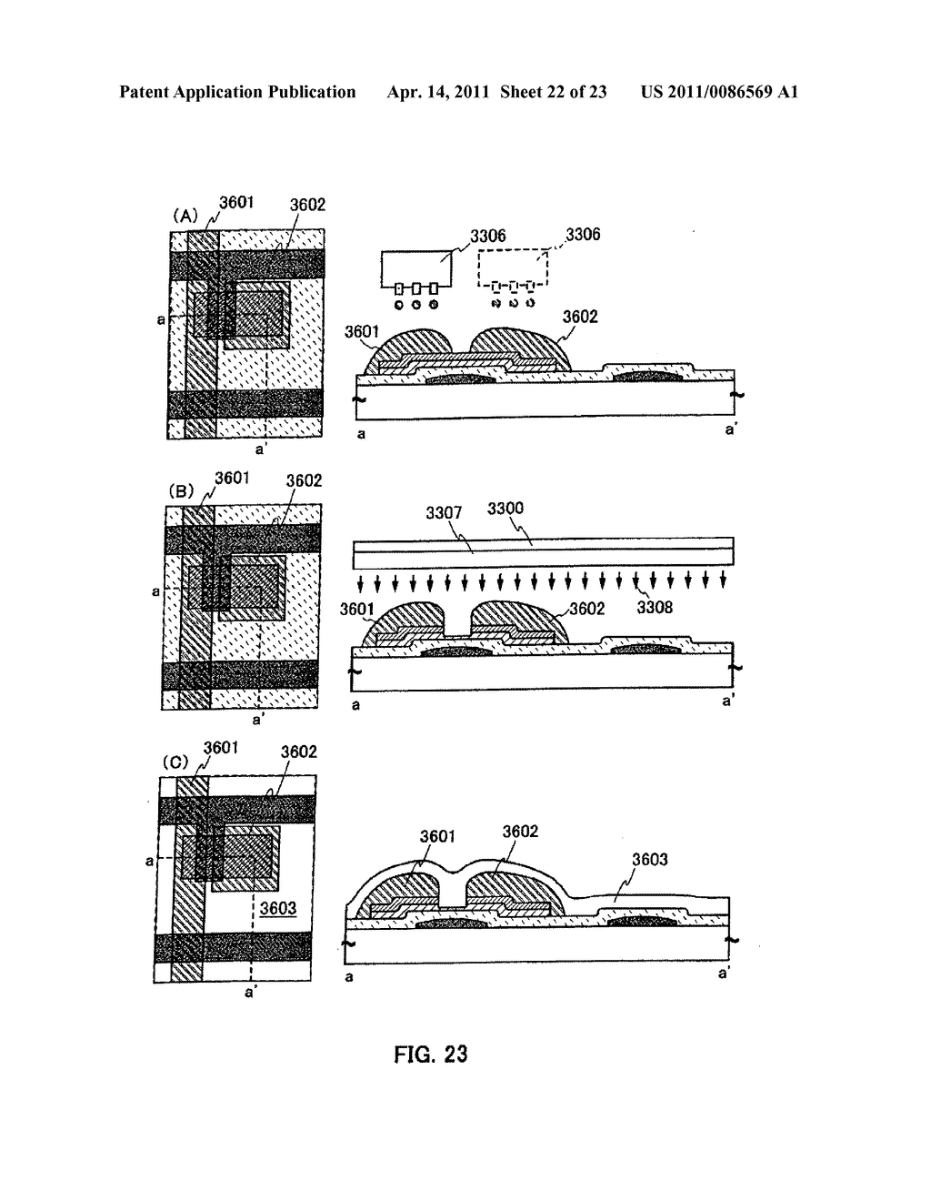 METHOD FOR PRODUCING SEMICONDUCTOR DEVICE AND DISPLAY DEVICE - diagram, schematic, and image 23