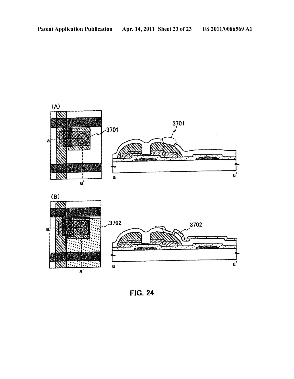 METHOD FOR PRODUCING SEMICONDUCTOR DEVICE AND DISPLAY DEVICE - diagram, schematic, and image 24