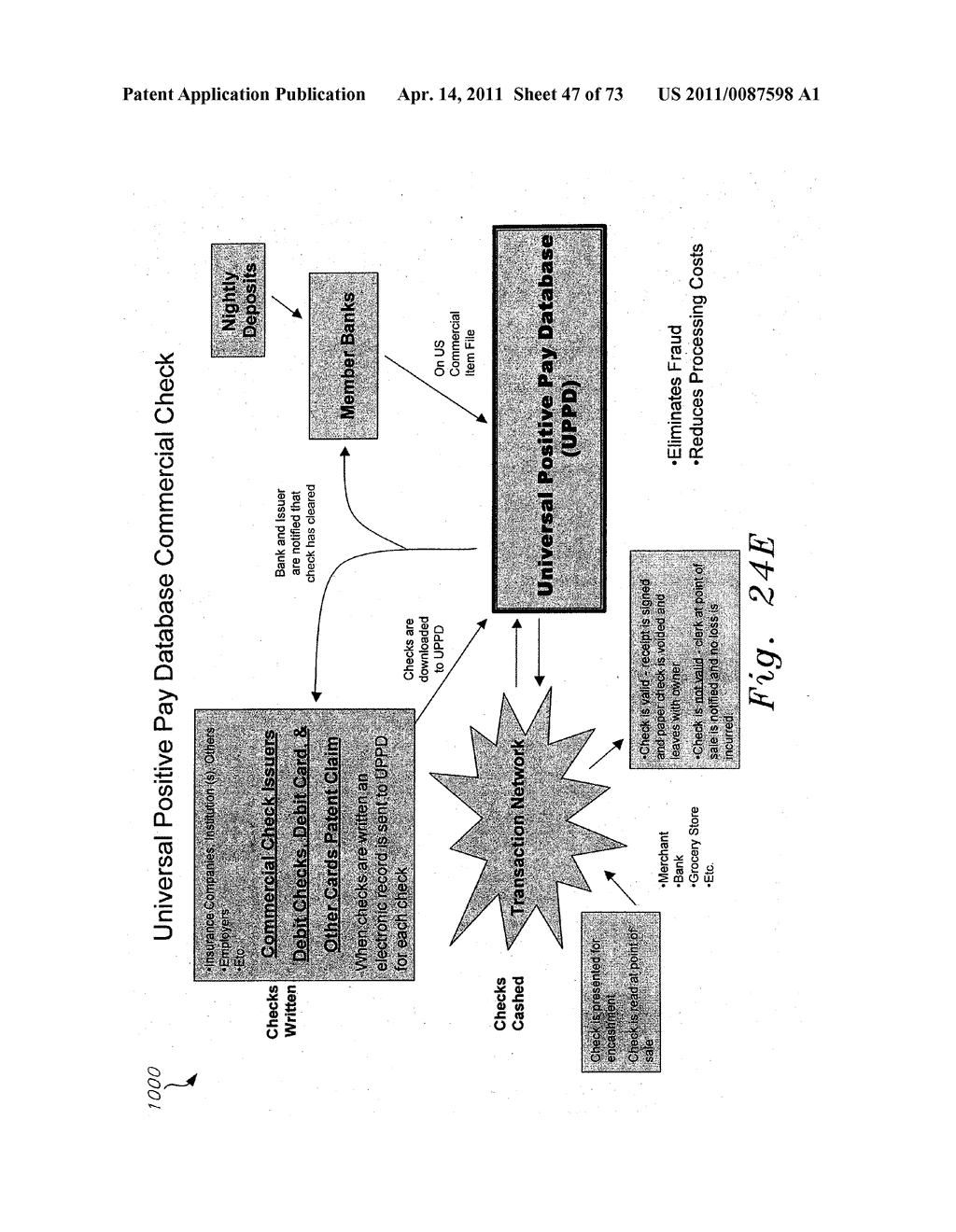 UNIVERSAL POSITIVE PAY MATCH, AUTHENTICATION, AUTHORIZATION, SETTLEMENT AND CLEARING SYSTEM - diagram, schematic, and image 48