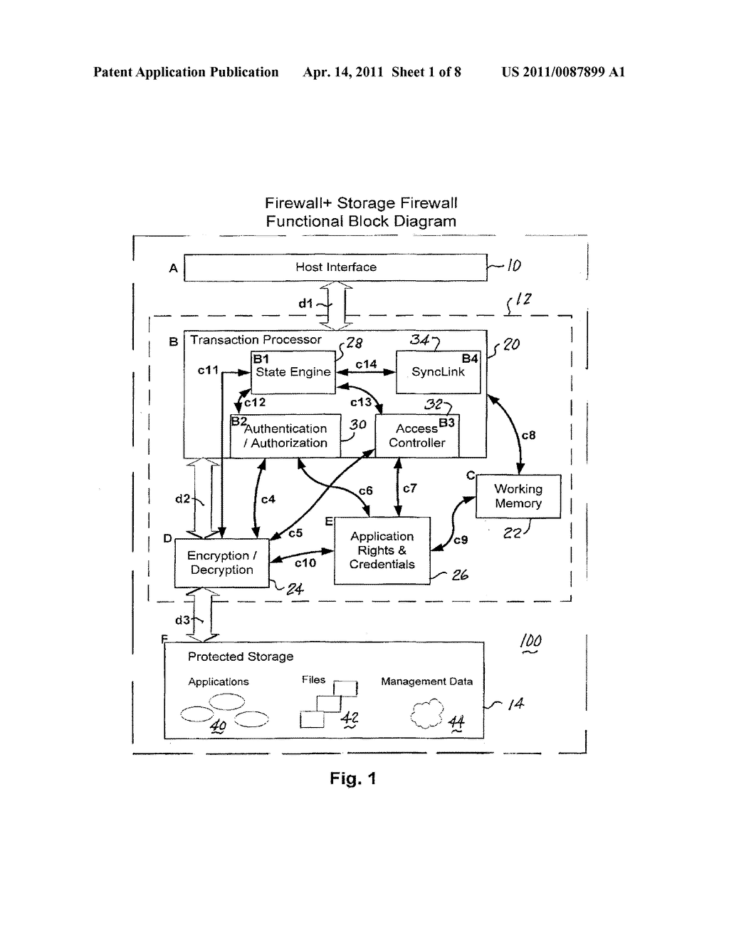 FIREWALL PLUS STORAGE APPARATUS, METHOD AND SYSTEM - diagram, schematic, and image 02