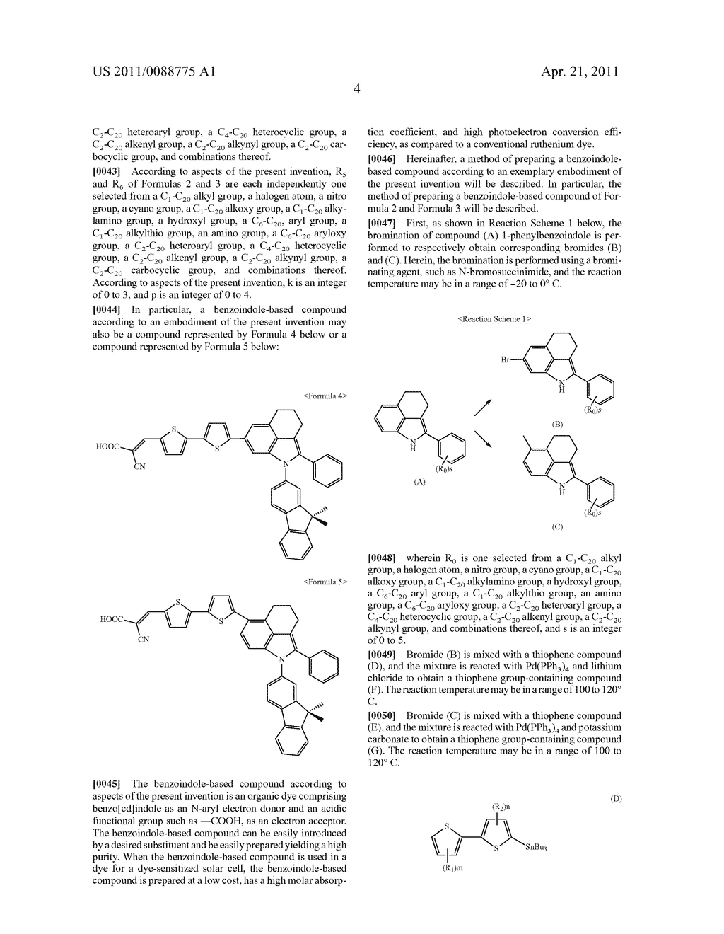 BENZOINDOLE-BASED COMPOUND AND DYE-SENSITIZED SOLAR CELL USING THE SAME - diagram, schematic, and image 13