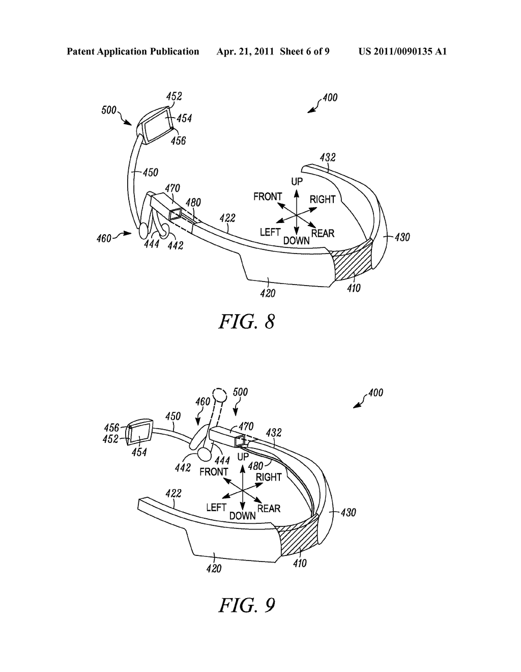 INTERCHANGEABLE DISPLAY DEVICE FOR A HEAD-MOUNTED DISPLAY SYSTEM - diagram, schematic, and image 07
