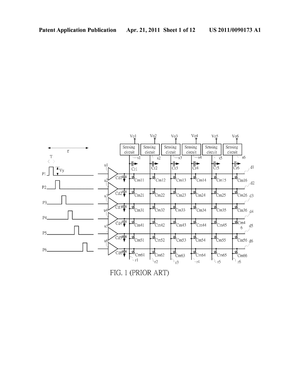 SENSING CIRCUIT FOR USE WITH CAPACITIVE TOUCH PANEL - diagram, schematic, and image 02