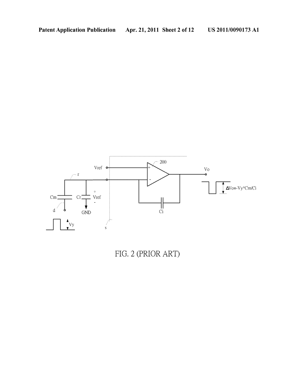 SENSING CIRCUIT FOR USE WITH CAPACITIVE TOUCH PANEL - diagram, schematic, and image 03