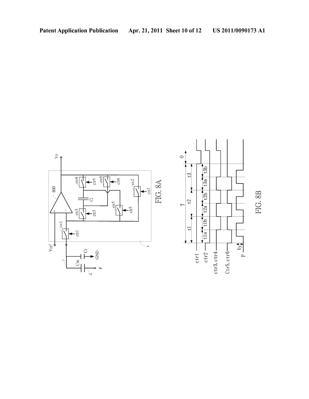 SENSING CIRCUIT FOR USE WITH CAPACITIVE TOUCH PANEL - diagram, schematic, and image 11