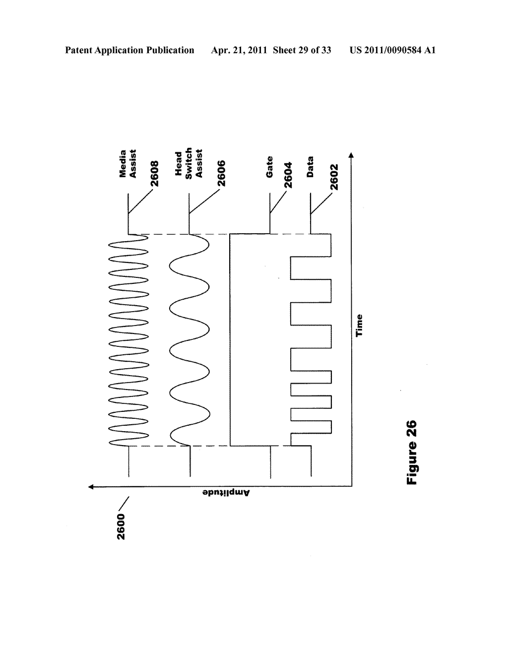Signaling method and apparatus for write assist of high coercivity media using integrated half coil - diagram, schematic, and image 30
