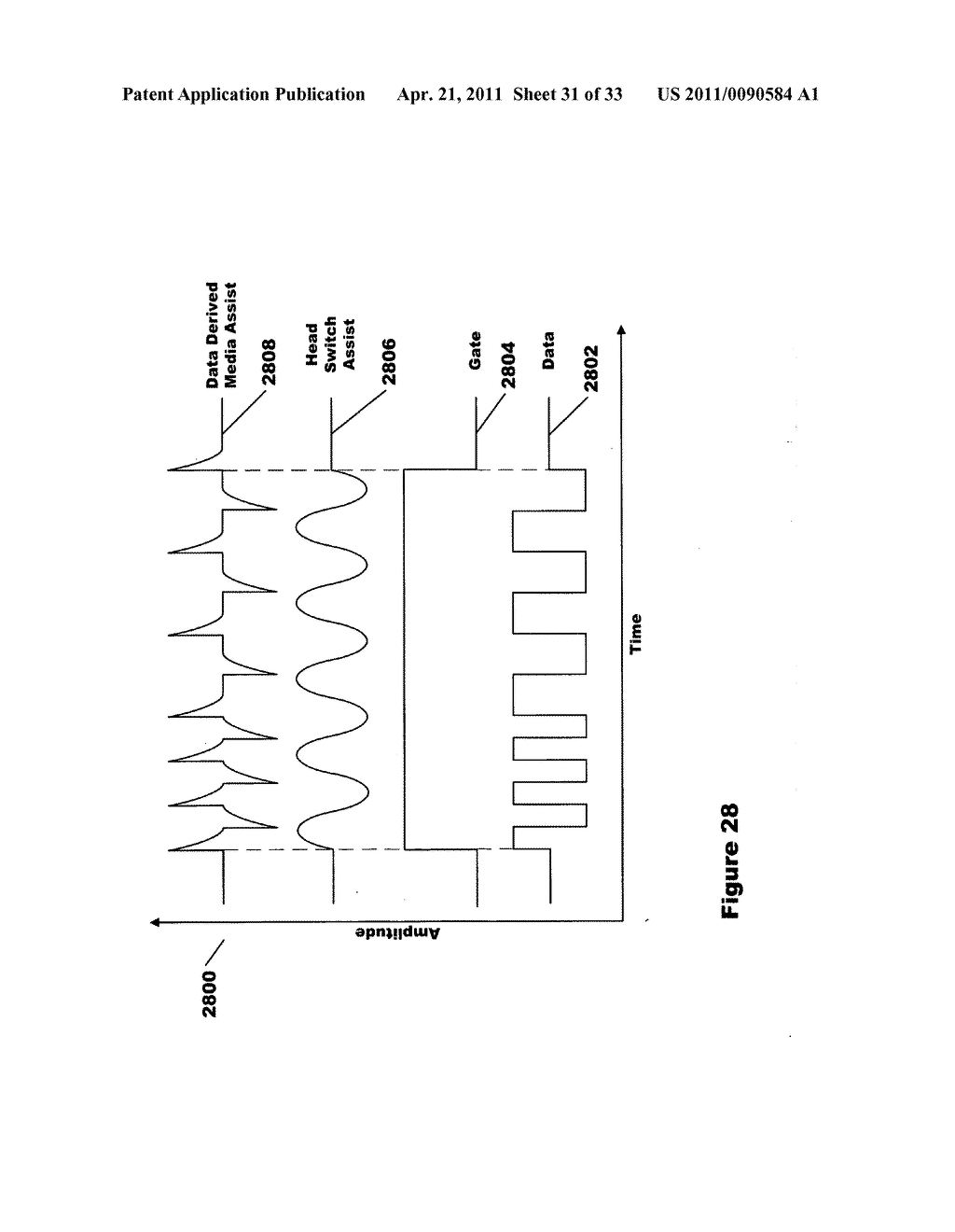 Signaling method and apparatus for write assist of high coercivity media using integrated half coil - diagram, schematic, and image 32