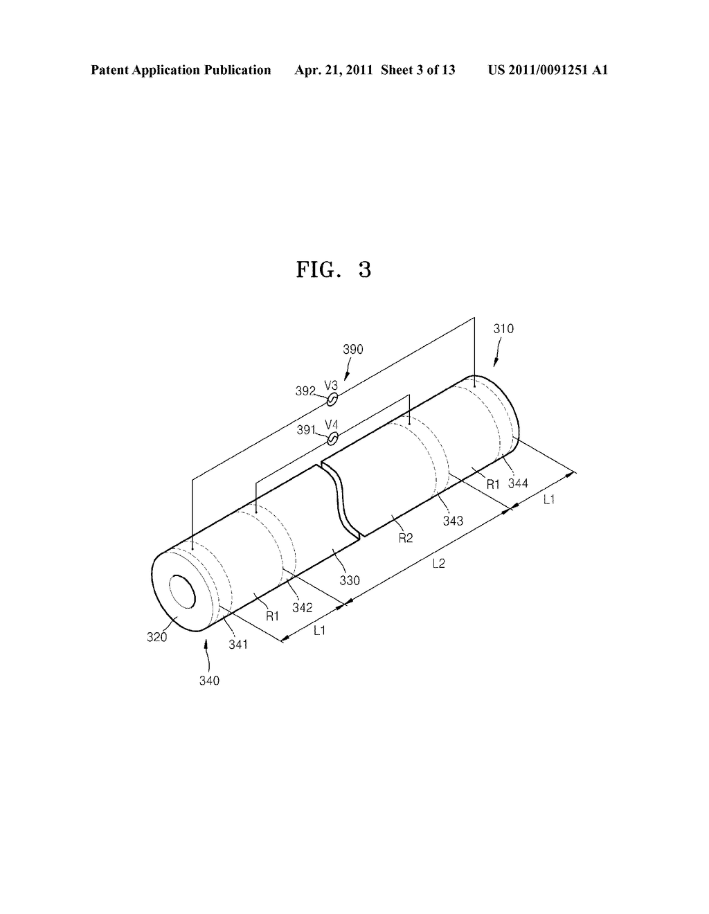HEATING ROLLER HAVING RESISTIVE HEATING ELEMENT AND FUSING DEVICE INCLUDING HEATING ROLLER - diagram, schematic, and image 04