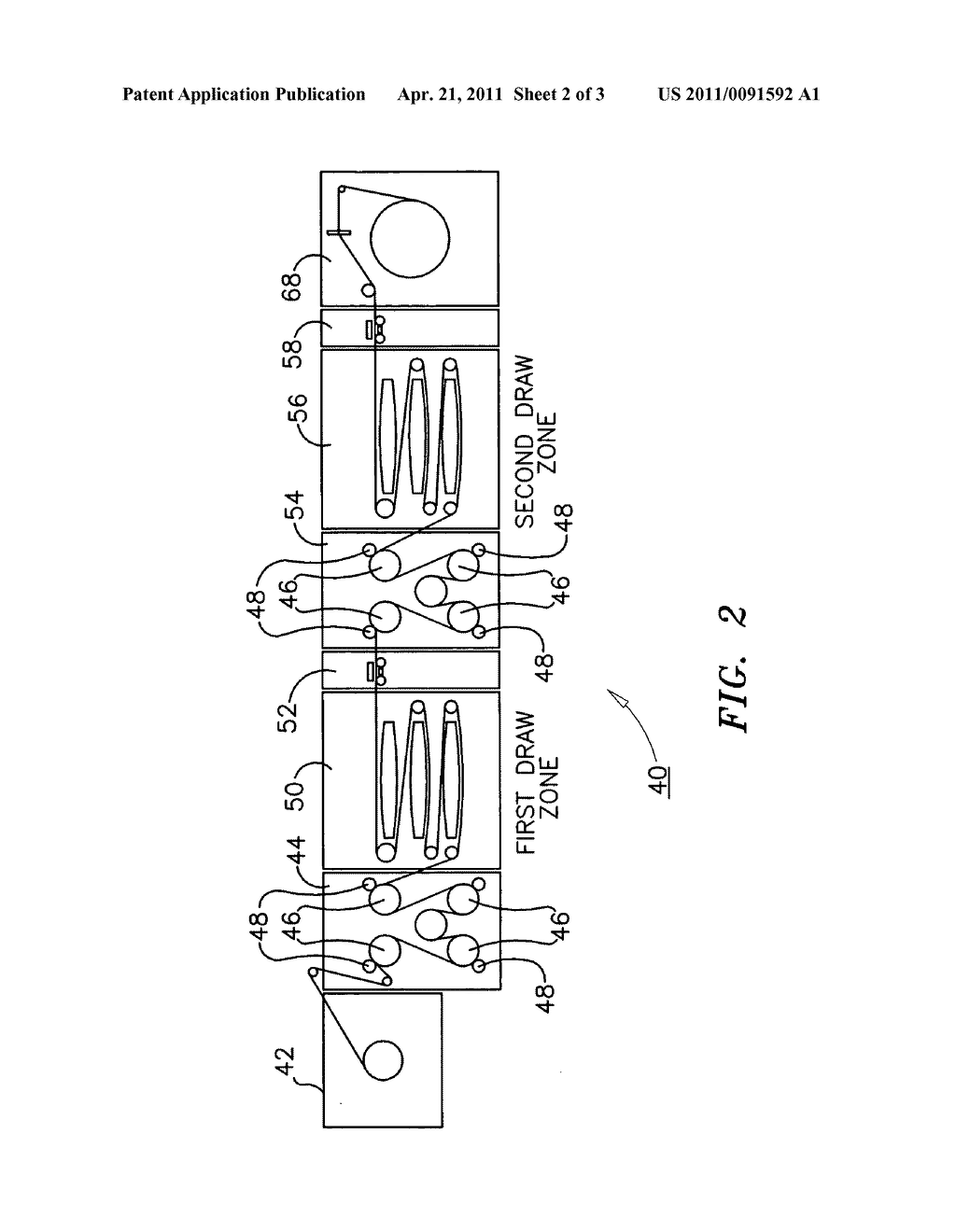 Method and apparatus for the production of high tenacity polyolefin sheet - diagram, schematic, and image 03