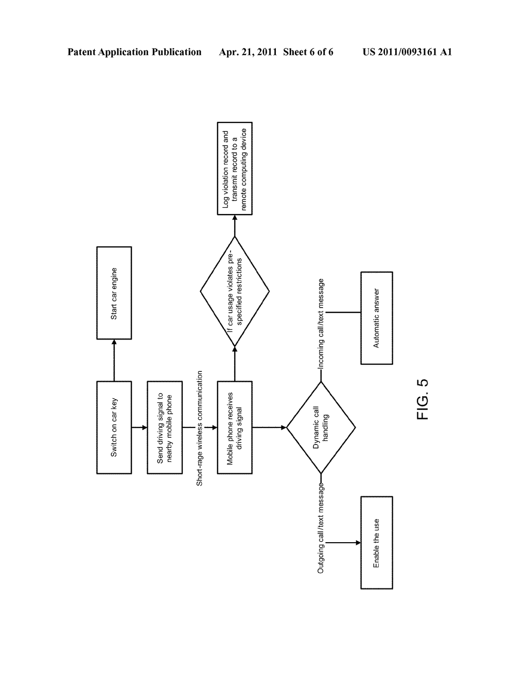 INTEGRATED SYSTEMS AND METHOD FOR PREVENTING MOBILE COMPUTING DEVICE USE WHILE DRIVING - diagram, schematic, and image 07