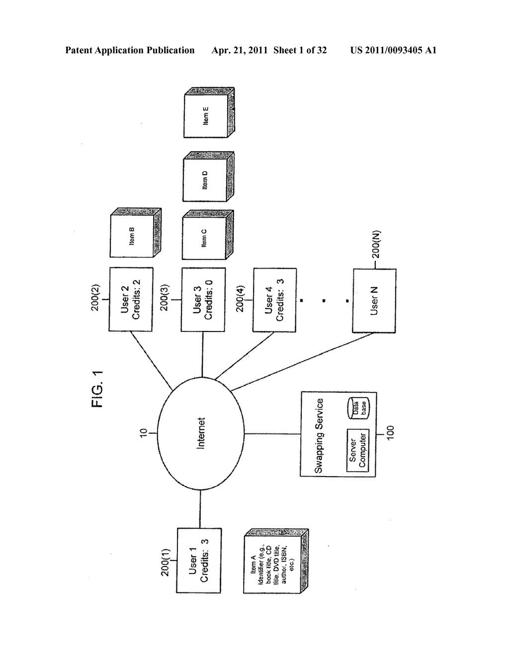 SYSTEM AND METHOD FOR SWAPPING OF TANGIBLE ITEMS - diagram, schematic, and image 02