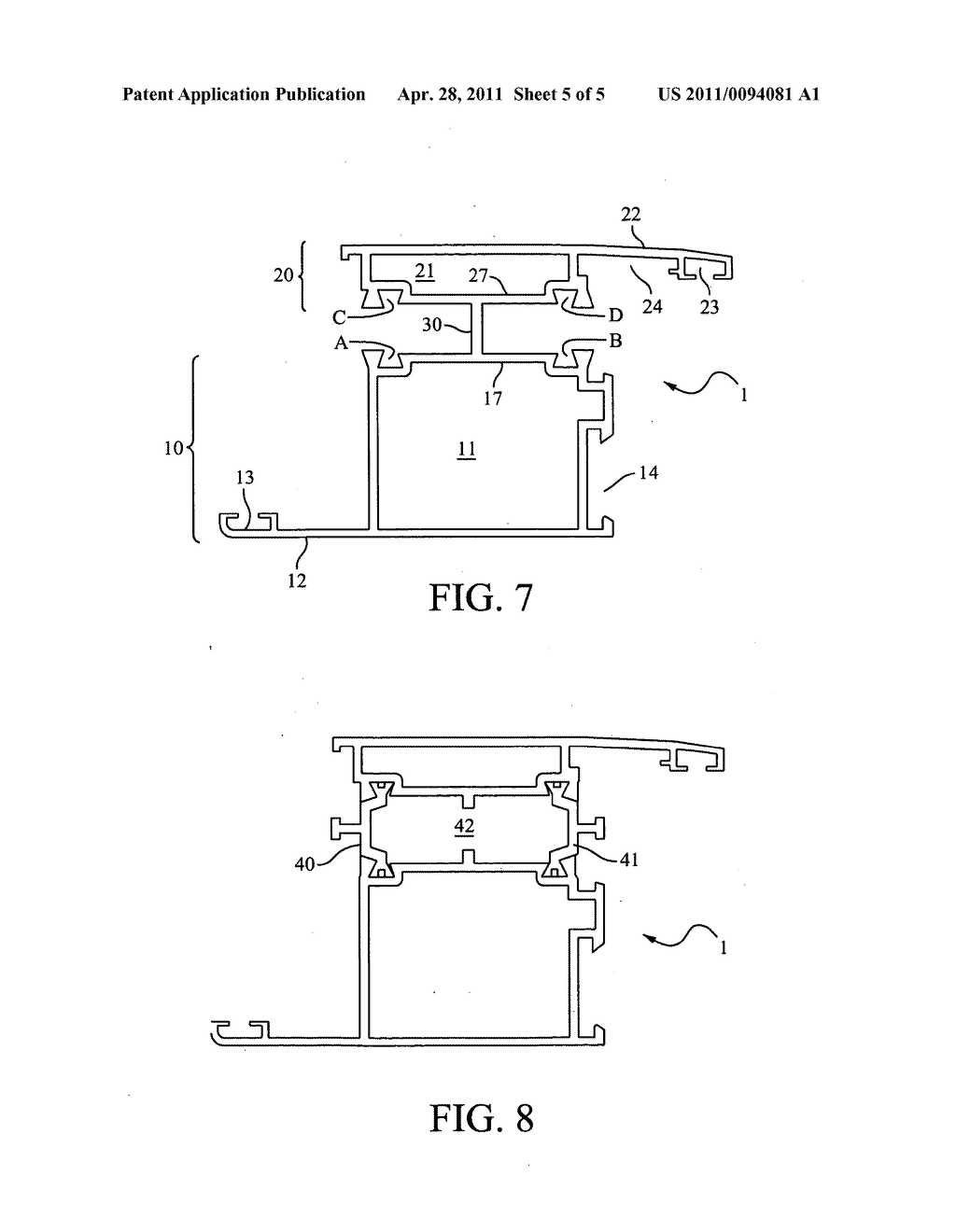 Uninsulated section suitable for producing insulated sections for