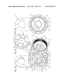 Motor vehicle starter with planetary gearset diagram and image