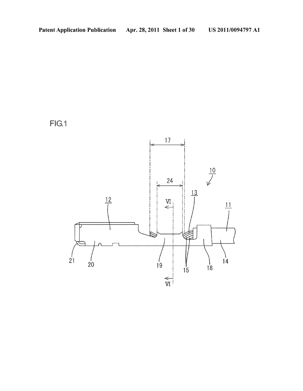 ELECTRIC WIRE WITH TERMINAL CONNECTOR AND METHOD OF MANUFACTURING ELECTRIC WIRE WITH TERMINAL CONNECTOR - diagram, schematic, and image 02
