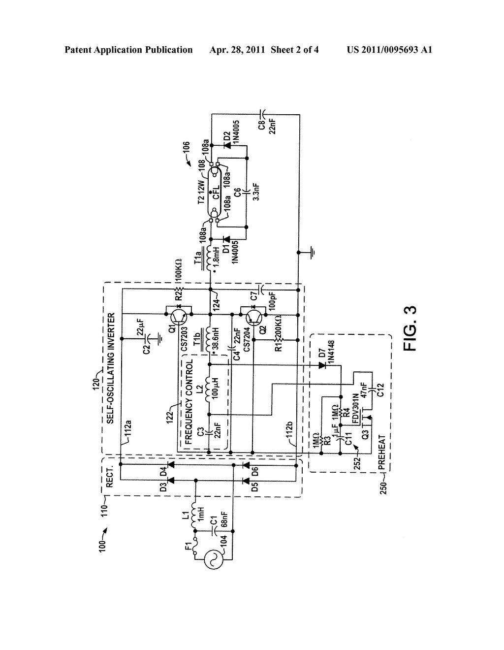Fluorescent Lamp Ballast With Electronic Preheat Circuit Diagram Electrical Wiring Schematic And Image 03