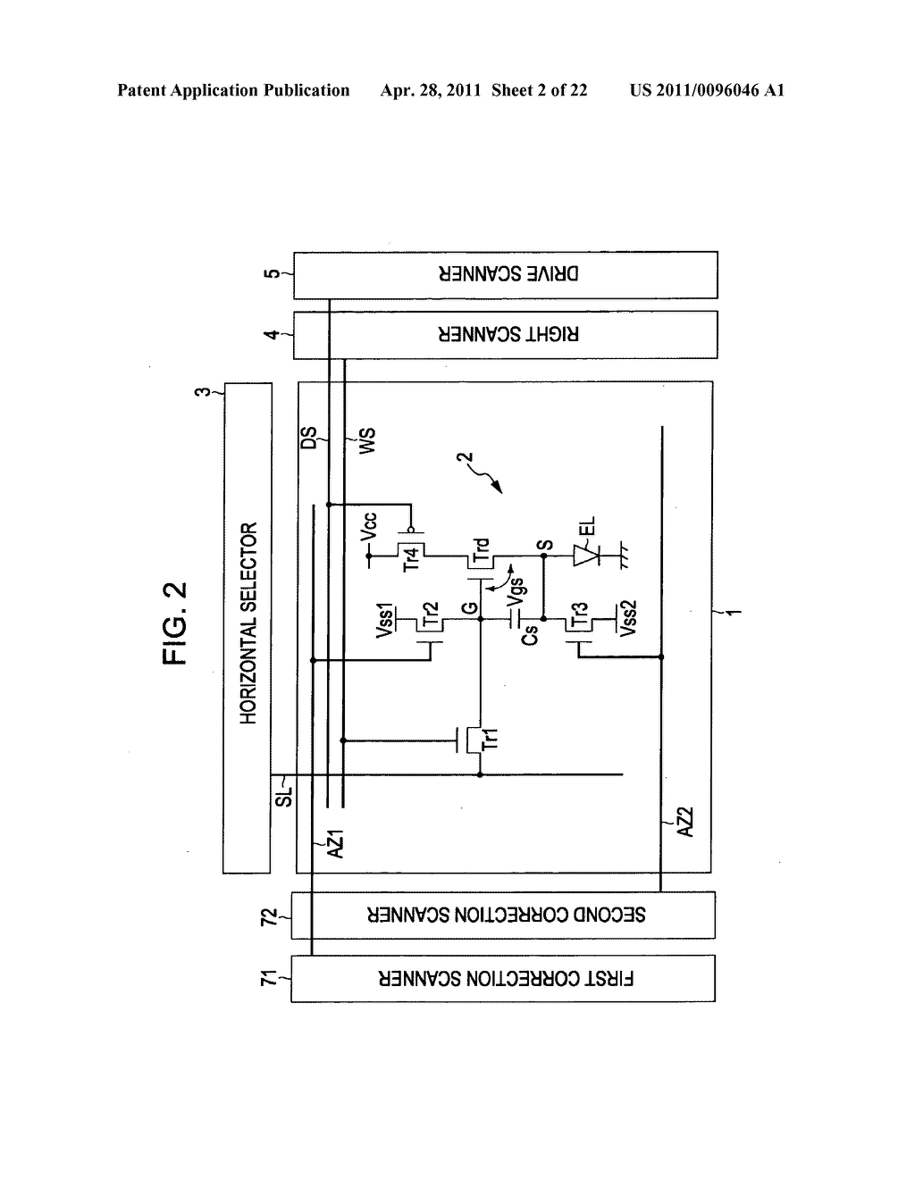 Display apparatus, method of driving a display, and electronic device - diagram, schematic, and image 03