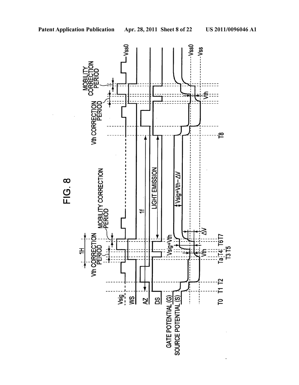 Display apparatus, method of driving a display, and electronic device - diagram, schematic, and image 09