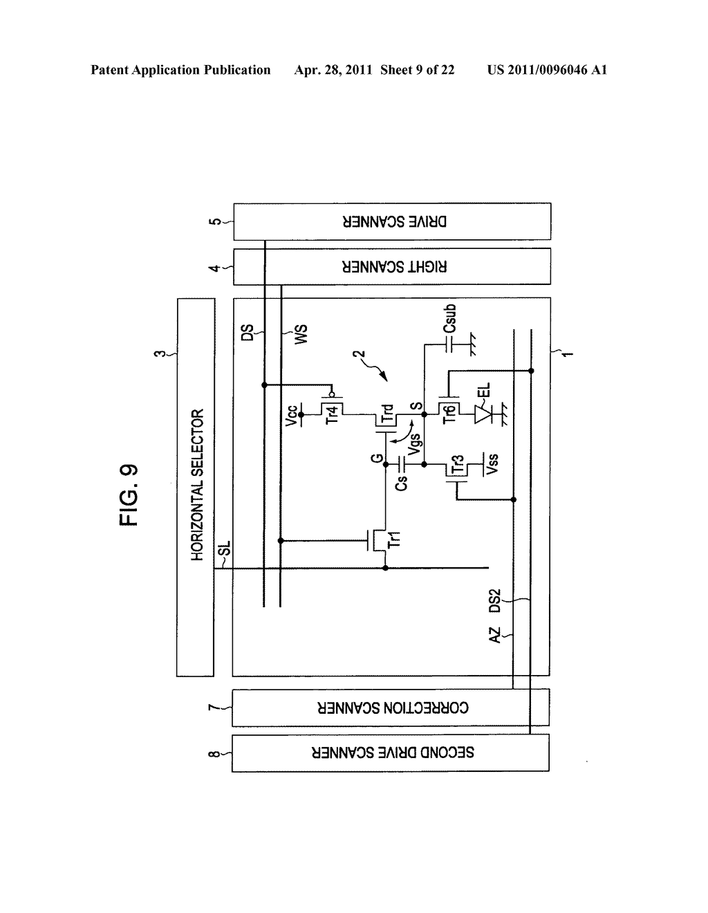Display apparatus, method of driving a display, and electronic device - diagram, schematic, and image 10