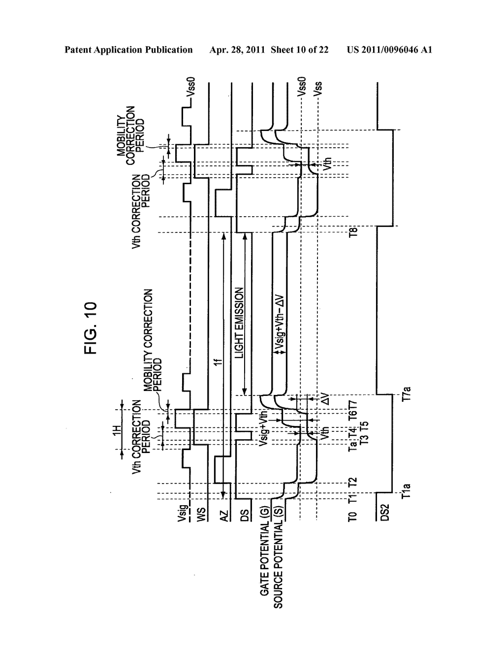 Display apparatus, method of driving a display, and electronic device - diagram, schematic, and image 11