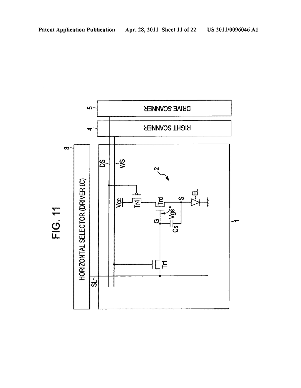Display apparatus, method of driving a display, and electronic device - diagram, schematic, and image 12