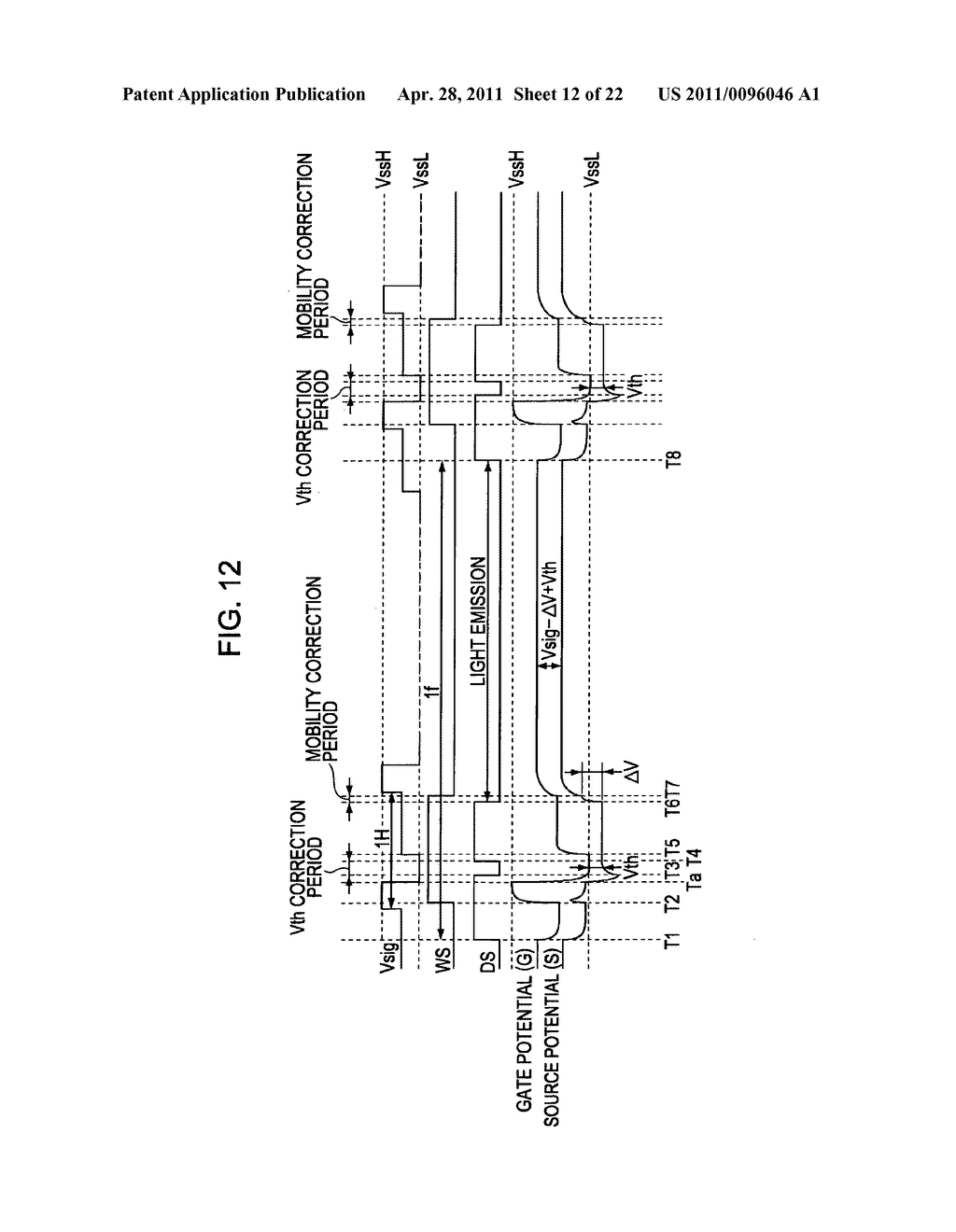 Display apparatus, method of driving a display, and electronic device - diagram, schematic, and image 13