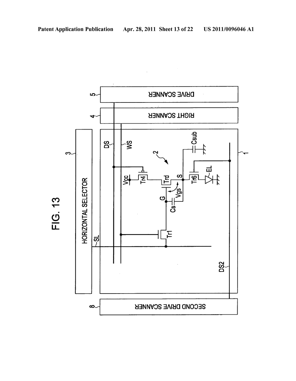 Display apparatus, method of driving a display, and electronic device - diagram, schematic, and image 14
