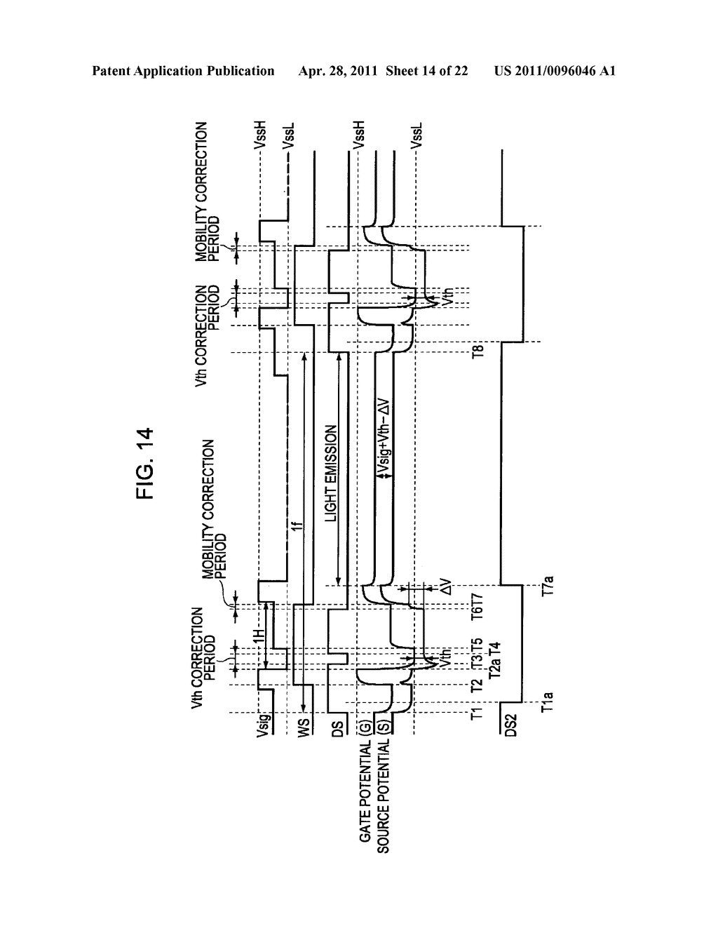 Display apparatus, method of driving a display, and electronic device - diagram, schematic, and image 15