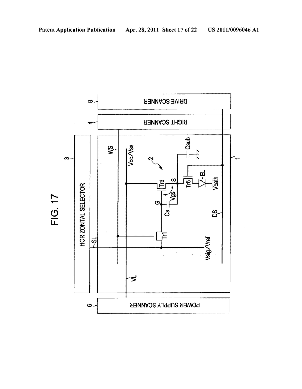 Display apparatus, method of driving a display, and electronic device - diagram, schematic, and image 18