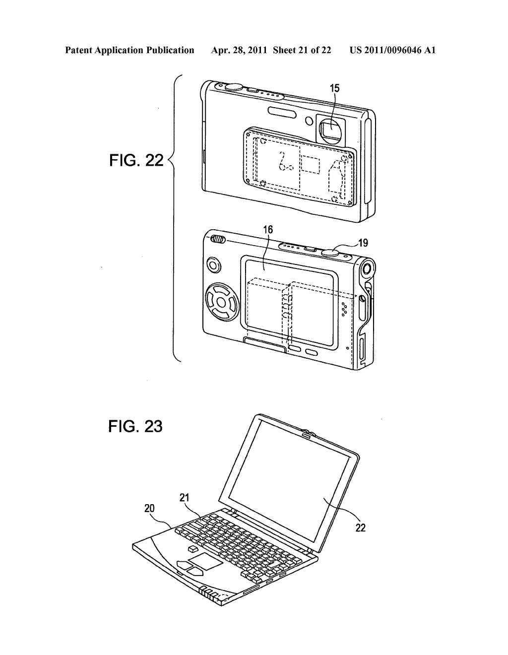 Display apparatus, method of driving a display, and electronic device - diagram, schematic, and image 22
