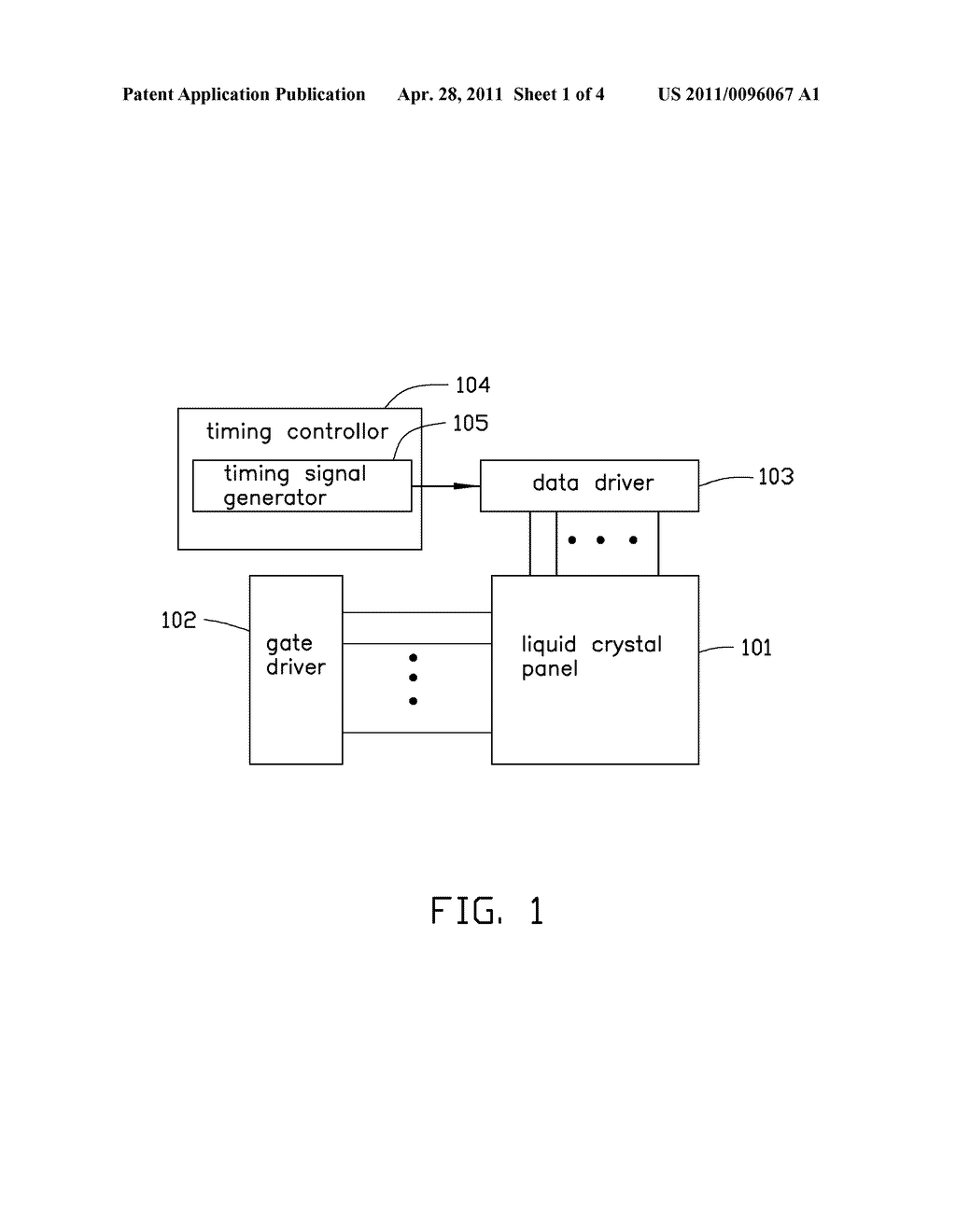 DISPLAY DEVICE HAVING DATA DRIVER ADJUSTING SETUP TIME AND HOLD TIME - diagram, schematic, and image 02