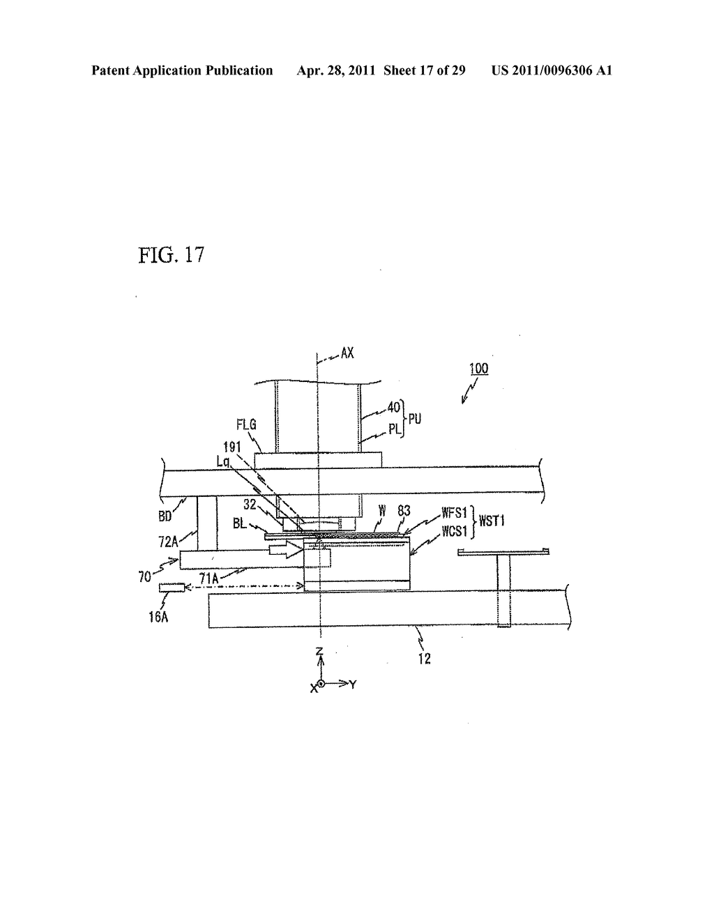 STAGE APPARATUS, EXPOSURE APPARATUS, DRIVING METHOD, EXPOSING METHOD, AND DEVICE FABRICATING METHOD - diagram, schematic, and image 18