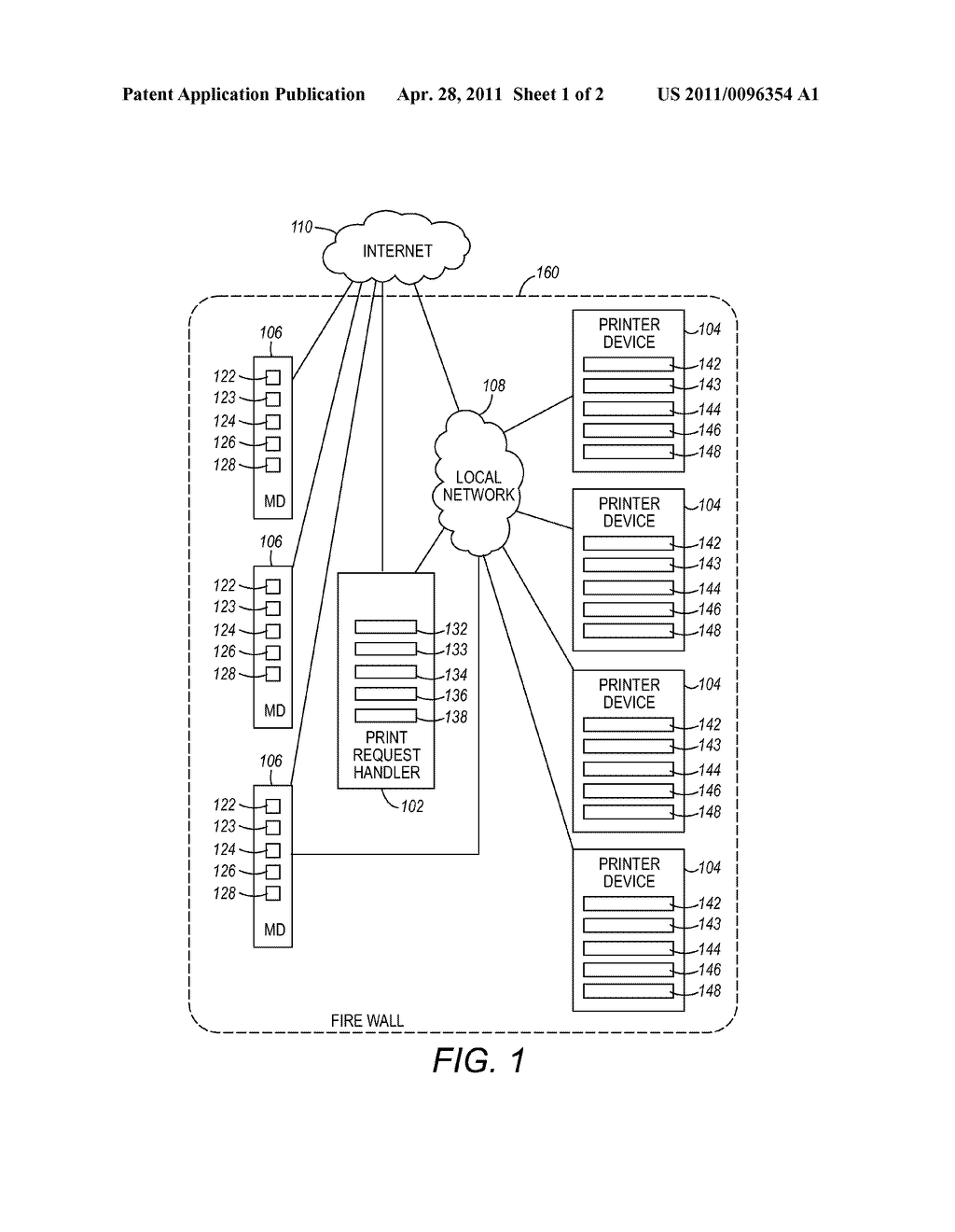 SYSTEM AND METHOD FOR HANDLING PRINT REQUESTS FROM A MOBILE DEVICE - diagram, schematic, and image 02