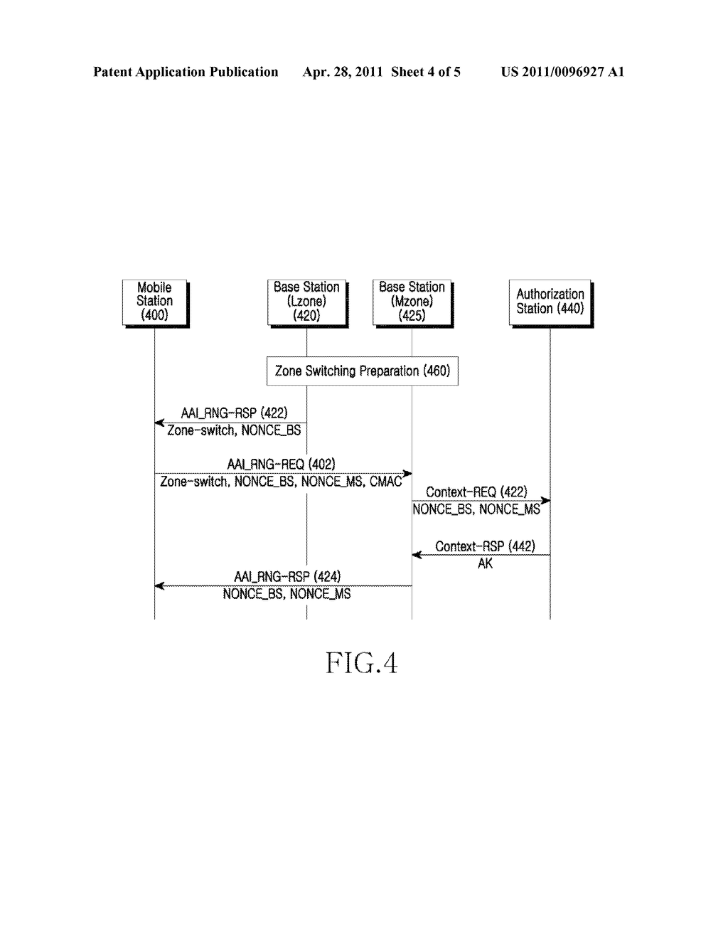 METHOD AND APPARATUS FOR UPDATING AN AUTHORIZATION KEY IN A COMMUNICATION SYSTEM - diagram, schematic, and image 05