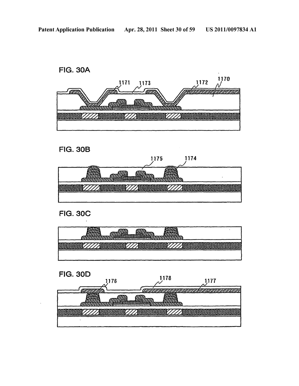 THIN FILM TRANSISTOR, DISPLAY DEVICE AND LIQUID CRYSTAL DISPLAY DEVICE AND METHOD FOR MANUFACTURING THE SAME - diagram, schematic, and image 31